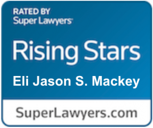 super lawyers badge for Eli Mackey